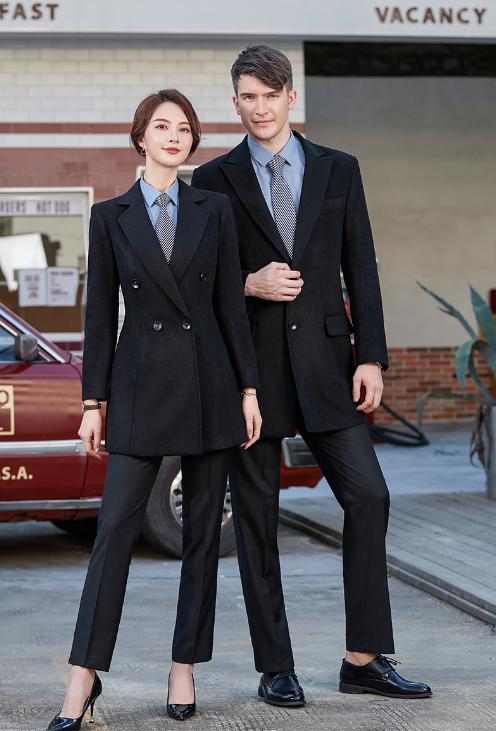 郑州职业装定做男女中长款毛呢大衣