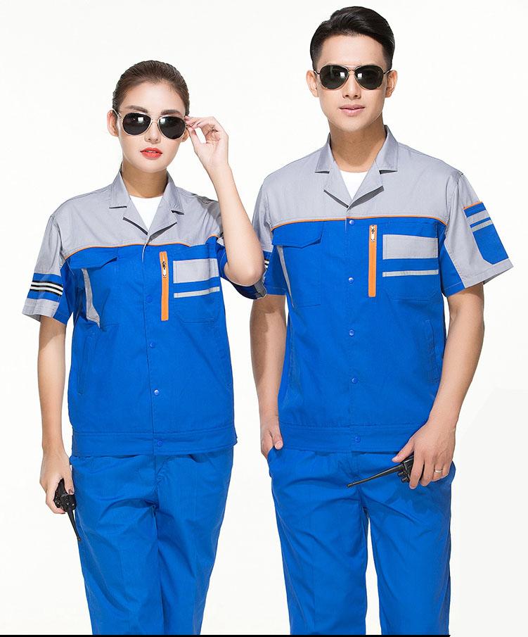 郑州夏季工作服套装男薄款定制